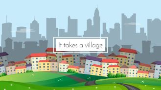 It takes a village city scape-01